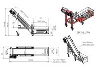 Winkelförderer 600 x 1250 x 250mm
